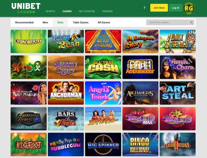 bónus Unibet  casino